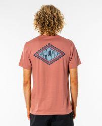 Rip Curl Salt Water Rubber Soul Mens T-Shirt - Washed Wine - Back