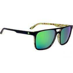 SPY Czar Matte Black/Cushwall Sunglasses - HD Plus Bronze/Green