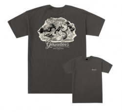 Dark Seas X Grundens Story Book Mens T-Shirt - Tar