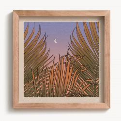 Cai and Jo Through The Palms Print - 12x12 - Full View