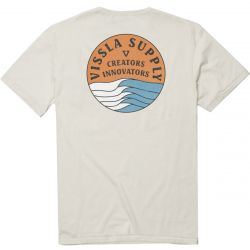 Vissla Stacked Upcycled Mens T Shirt - Bone