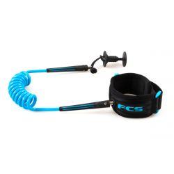 FCS Bodyboard Bicep Coiled Leash - Blue