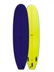 Foamie Shred Sled 7ft 6 Foam Surfboard - Navy/Yellow