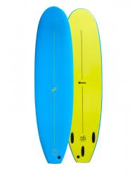Foamie Magic Carpet 7ft 0 Foam Surfboard - Blue/Yellow