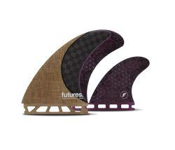 Futures Rasta Honeycomb Twin + 1 Fin Set - Brown