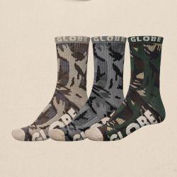 Globe Eco Camo Crew Sock 3 Pack - Camo