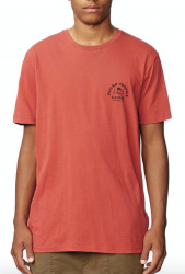 GLOBE ARCH TEE IN BRICK RED