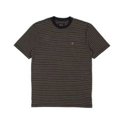 Brixton Hilt Knit T-Shirt - Black/Honey/Heather Grey