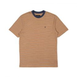 Brixton Hilt Knit T-Shirt - Coconut/Washed Navy/White