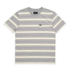Brixton Hilt Knit Pocket T-Shirt - Heather Grey/Off White