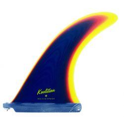 Koalition California 8.5 Inch Single Fin in Rainbow Blue/Yellow