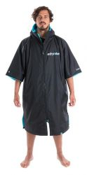 Dryrobe Advance Short Sleeve Changing Robe - Black / Blue