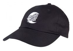 Santa Cruz 'Moon Dot' Mono Baseball Cap - 'Black'