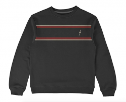 Lightning Bolt Sand Crew Sweatshirt - Moonless Night