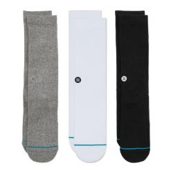 Stance Icon 3 Pack Socks in Multi