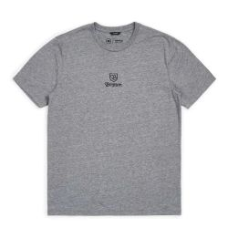 Brixton Main Label II T-Shirt - Heather Grey
