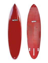 Rebel Mid Length Surfboard - Resin Burgundy - Full View