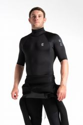 C Skins X Mens Short Sleeve Rash Vest - Black