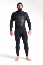 C-Skins ReWired+ 6/5mm Mens Hooded Chest Zip Wetsuit 2021