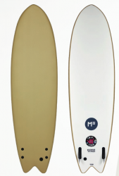 Mick Fanning Twin Town 6ft 6 Foam Surfboard - Soy Brown