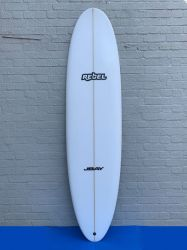 Rebel Mini Mal PU Surfboard - White