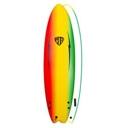 Ocean & Earth 5ft 6 MR Ezi Rider Twin Fin Softboard - Rasta