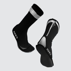 Zone3 Neoprene Swim Socks - Black\Silver - Full View