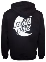Santa Cruz 'Moon Dot Mono' Hoodie - 'Black'
