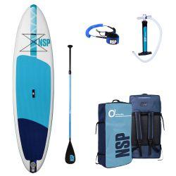 "NSP Allrounder 10'6"" LT Package Deal SUP - White/Blue - Full View"