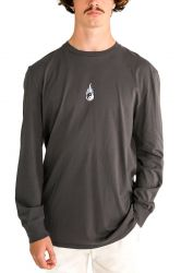 Pukas Elements Long Sleeve Mens Tee - Faded Black
