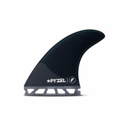 Future Fins Pyzel Medium Thruster Fins 2021 - Black - Full View