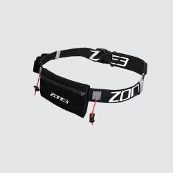 Zone 3 Endurance Number Belt With Gel Storage - Black - Full View