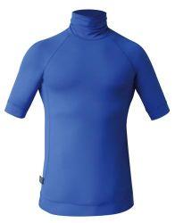 C Skins UV Junior Short Sleeve Blank Rash Vest - Blue