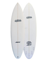 Rebel Bean PU Surfboard - White