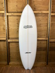 Rebel Hybrid Shortboard PU Surfboard - White