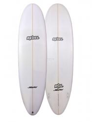Rebel Magic Carpet PU Surfboard - White