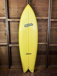 Rebel Retro Fish 6ft 6 PU Surfboard - Yellow