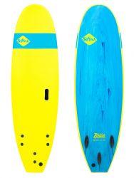 """Softech Roller 6'6"""" Foam Surfboard - Ice Yellow"""
