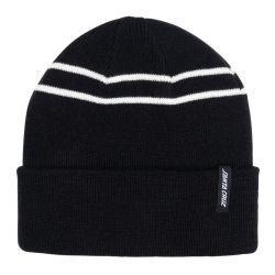 Santa Cruz Double Stripe Beanie - Black - Full View