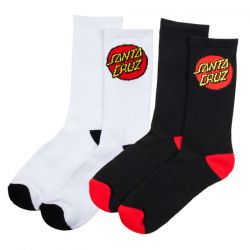 Santa Cruz Classic Dot Socks - 2 Pack - Front