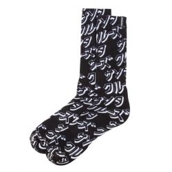 Santa Cruz Men's Japanese Sock - Black - Front Close Up