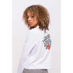 Santa Cruz 'Floral Dot' Crew Sweater - 'White'