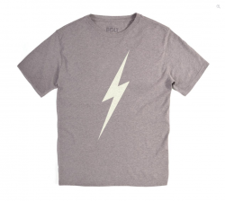 Lightning Bolt Mens Forever Tee - Grey