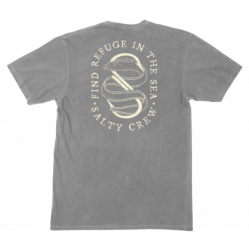 Salty Crew Lurker Overdyed Mens T-Shirt - Asphalt