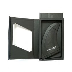 Ocean and Earth Polycarbonate Soft Edge Twin Fin Futures Base 2021 - Black - Full View