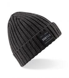 Sorted Surf Shop Knitted Beanie - Charcoal Grey