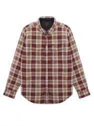 Dark Seas Wedge Mens Shirt Jacket - Brown