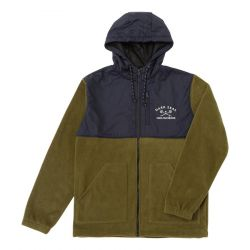 Dark Seas Grundens Waghorn Hooded Fleece - Army