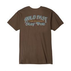 Dark Seas Hold Fast Old Time Mens T-Shirt - Coffee