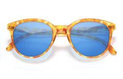 Sun Ski Makani Polarized Blonde Tortoise Aqua Sunglasses - One Size - Full View